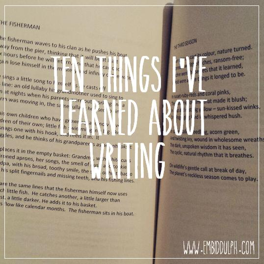POSTER10thingsi'velearnedaboutwriting