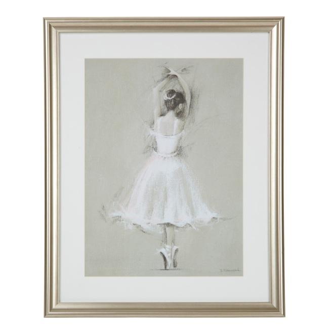 Pirouetting Ballerina Framed Print by LauraAshley.com